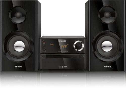Philips BTM2180 Kompaktanlage mit Bluetooth (70W, Bassreflex, USB, UKW, CD-MP3) schwarz