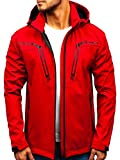BOLF Herren Softshell Funktionsjacke Kapuze Outdoor Sportlicher Stil Nature 5427...