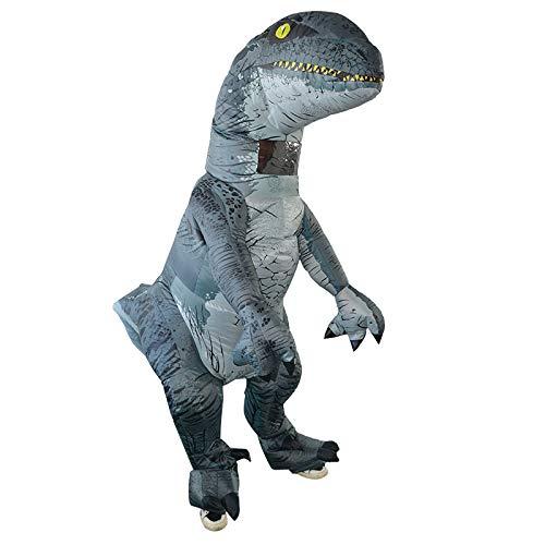 Raptor Kostüm - HWLQBH Halloween Tyrannosaurus Kostüme platzen Drachen aufblasbaren Anzug Raptor Kostüm Requisiten Rollenspiel Anzug
