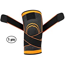 Sportneer Knee Sleeve, Compression Fit Support -for Joint Pain and Arthritis Relief, Improved Circulation Compression - Wear Anywhere - Single