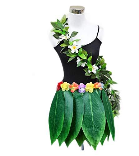 Kostüm Tanz Insel - Fortuning's JDS Hawaii-Blatt-Rock Garland Set Tanzen Kostüm Partyrequisiten Gefälligkeiten (2Pcs)