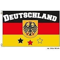 MIDI Shopping–bandera alemán Alemania Deutschland Flag National International Europe 150x 90cm fl-24
