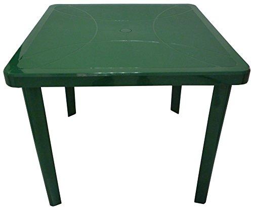 Tavolo Di Plastica Balcone.Tavolo Tavolino Quadrato 80x80 Nettuno In Dura Resina Di Plastica