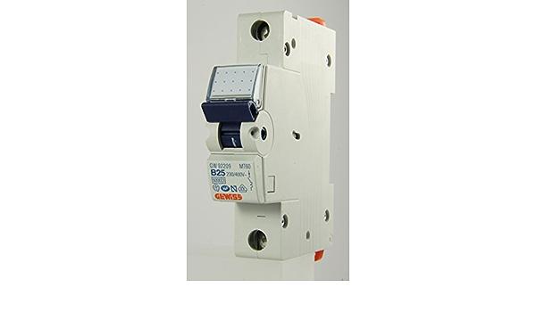 MT60 GW 92 209-25a Type B Single Pole MCB Gewiss Series 90 Eurodin range