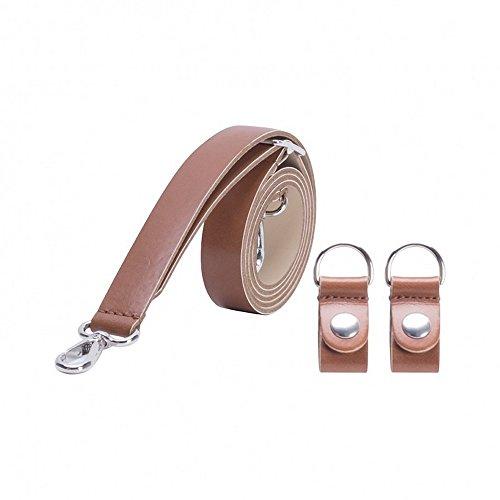 O bag tracolla in ecopelle con moschettone e clip - Naturale