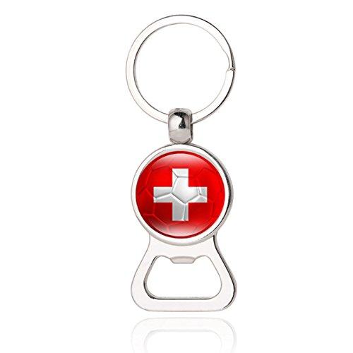 Mini Bierflaschenöffner Schlüsselanhänger für Herren, Modeschmuck 23# Schweiz