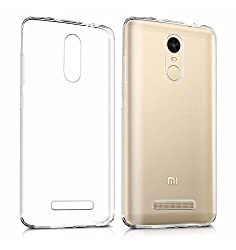 Youbon Ultra Thin Transparent Silicon Electroplated Edge TPU Flexible Back Case Cover for Xiaomi Redmi Note 3 ,Gold Border