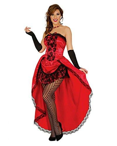 Damen Burlesque Kostüm Betty | rot-schwarz (Rot Kostüme Burlesque)