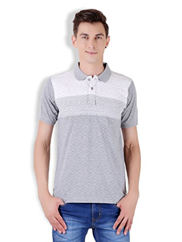 Tapasya Melange Grey Polo T-Shirt