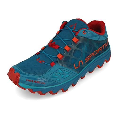 La Sportiva Herren Helios 2.0 Traillaufschuhe, Mehrfarbig (Tropisches Blau/Orangerot 000), 44 EU
