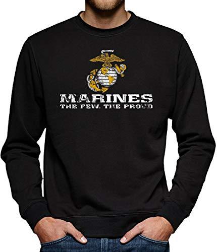 US Marine Corps USMC Sweatshirt Pullover Herren M Schwarz -