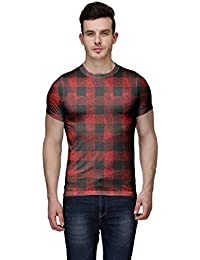Wear Your Mind Multi-Coloured Poly Cotton Round Neck Printed T-shirt For Men CST016