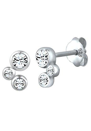 Elli Damen Ohrstecker 925 Sterling Silber Swarovski Kristalle Silber