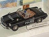 MGb MG B Convertible Polizei Police Schwa 1/43 Cararama Modellauto Modell Auto