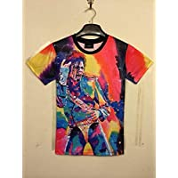 Z-X Americana Diseño Personalizado para Hombres Impresión Creativa 3D Manga Corta Camiseta Manga Corta, Camiseta e, XXL