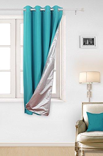 Deconovo tende termiche isolanti in tessuto oxford con rivestimento tende per casa moderna 100% poliestere 140x180 cm turchese un pannello