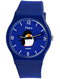 Vizion Analog Blue Big Dial (SKIPPER-The Penguin of Madagascar) Cartoon Character Watch for Kids-8822-2-2
