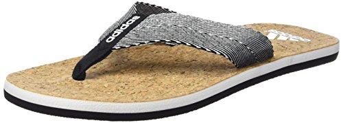 adidas Herren Mahilo Woven Flip-Flops, Schwarz / Weiß (Negbas / Ftwbla / Negbas), 42 EU