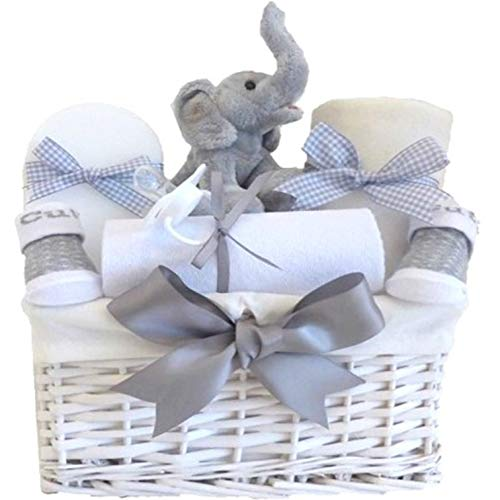 Cesta de regalo de mi primer elefante de peluche
