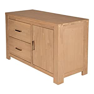 Scott Chest of Drawers in Oak and White Brushed Design