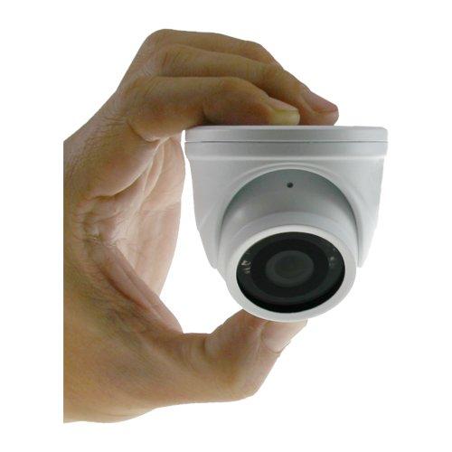 TELECAMERA DOME MINIATURIZZATA CON AUDIO, CUSTODIA ANTIVANDALO IP 66, 6 LED IR 650 TVL OBIETTIVO 2,8 mm