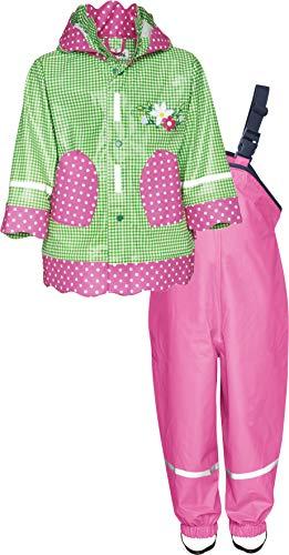 Playshoes Baby-Mädchen Regenanzug, Regen-Set Landhaus Regenjacke, Grün 29, (Herstellergröße: 86)
