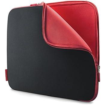 Belkin Neopren-Schutzhülle (für Laptops bis zu 30,7 cm (12,1 Zoll) kohlenschwarz/weinrot