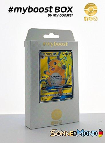 Box #myboost RAICHU GX Full Art SM90 - Sonne und Mond - 10 Deutsch Karten Pokemon (Neue Pokemon Karten Ex Mega)