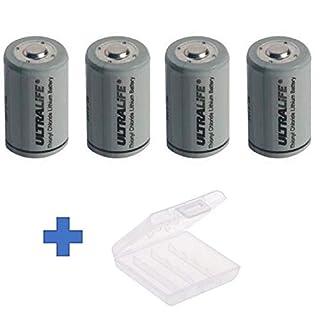 Akkuman.de Set 4X Ultralife Lithium 3,6V Batterie LS 14250-1/2 AA - UHE-ER14250 Li-SOCl2 + Box (4er + Box)