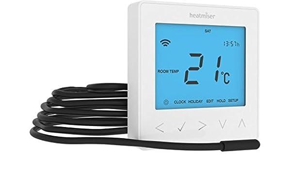Heatmiser NeoStat-e Elektrisch Boden Heizung Thermostat Gletscherwei/ß