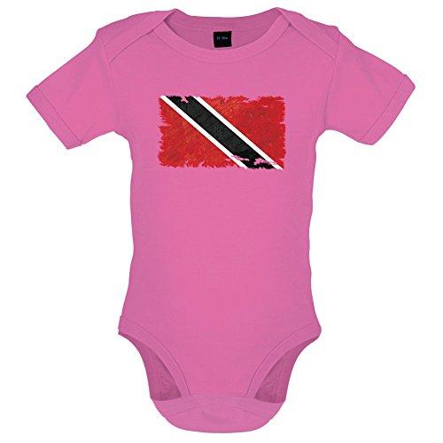 Dressdown Trinidad and Tobago/Trinidad und Tobago Flagge im Grunge-Stil - Lustiger Baby-Body - Bubble-Gum-Pink - 12 bis 18 Monate