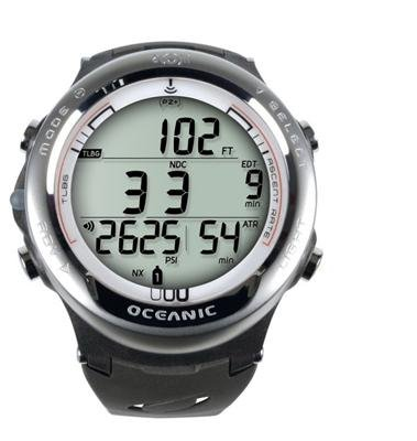 Oceanic Atom 3.1Dive Computer Without Transmitter and Oceanlog 04/8367/24–White M
