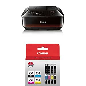 Canon PIXMA MX922 Wireless Color Photo Printer with Scanner, Copier and Fax with Genuine Canon Ink Value Pack Style: Printer and Ink Bundle Consumer Portable Electronics/Gadgets