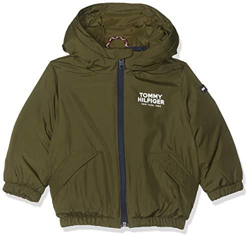 Tommy Hilfiger Dg TJM Jacket Abrigo, Verde Olive Night 399, 74 para Bebés