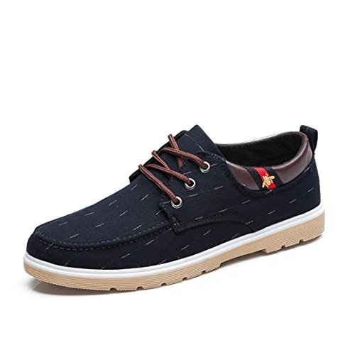 Homme Mode Loisirs Toile Chaussures Chaussures Décontractées Formateurs Ballet Chaussures Extérieure Euro Taille 39-44 Noir