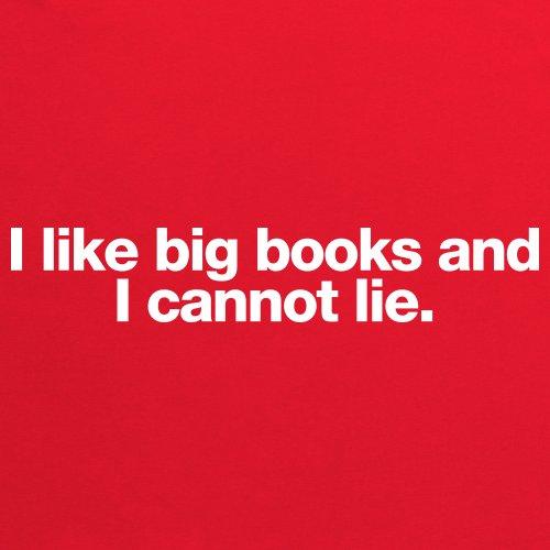 Big Books T-shirt, Uomo Rosso
