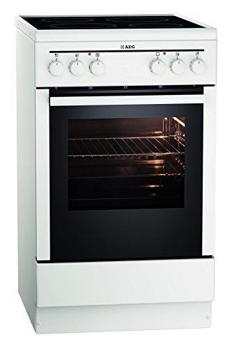 Freistehender Elektroherd (AEG Electrolux 20095VA-WN Backofen EEK A (Leichtreinigungstür, Ober- und Unterhitze, Glaskeramik, 4-fach Restwärme) weiß)