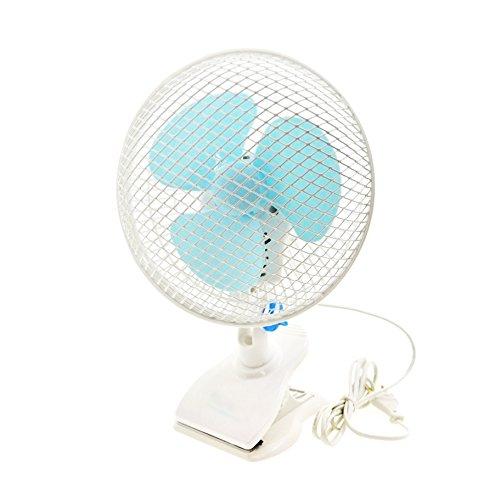 takestop® Ventilatore 3 Pale OSCILLANTE ORIENTABILE Diametro 18 CM 20W Stand con Pinza A Clip Tavolo SCRIVANIA