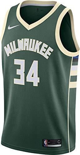 Nike Tausend M NK swgmn JSY Road Trikot Spieleredition Milwaukee Bucks Basketball 17-18, Herren L grün (fir/Flat Opal)