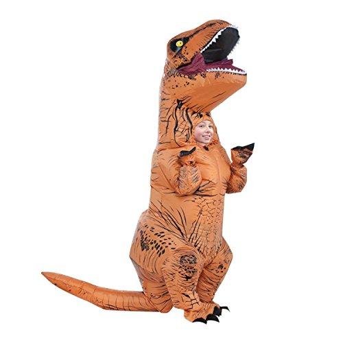 Nihiug Jurassic Tyrannosaurus Rex Aufblasbare Anzug Erwachsene Kinder Lustige Gesellschaft Bar Performance Kostüm Cos Requisiten Halloween Classic (Rex Kostüm B)