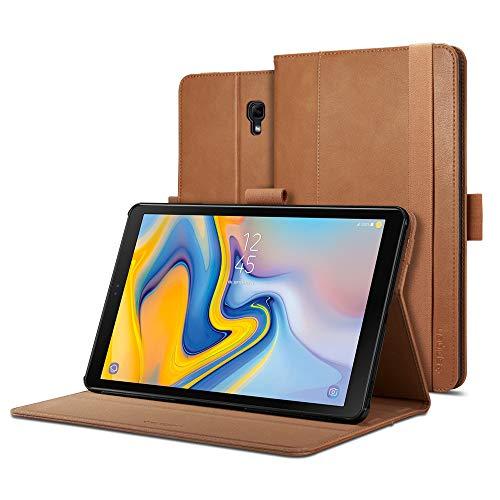 Spigen Galaxy Tab A 10.5 Hülle, Stand Folio entworfen für Galaxy Tab A 10.5 Zoll 2018 Case Cover (SM-T590/SM-T595) - Braun