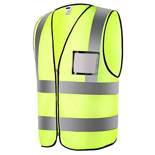 Peggy Gu Reflektierende Jacken 2-teilige Verschlussweste mit hoher Sichtbarkeit für Sicherheit und Notfallsituationen - Gelb Sicherheitsweste für Arbeiten im Freien Radfahren