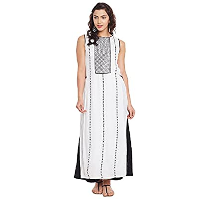 Ritu Kumar White Cotton A-Line Suit