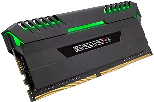 Best Price Corsair CMR32GX4M2C3200C16 Vengeance RGB 32GB (2x16GB) DDR4 3200MHz C16 XMP 2.0 Enthusiast RGB LED Illuminated Memory Kit – Black Special