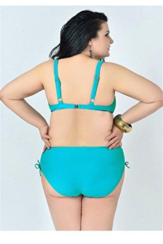 UDreamTime Da Donna 2 pezzi Taglia Grossa Coppa completa Costumi da bagno Bikini set Lakeverde