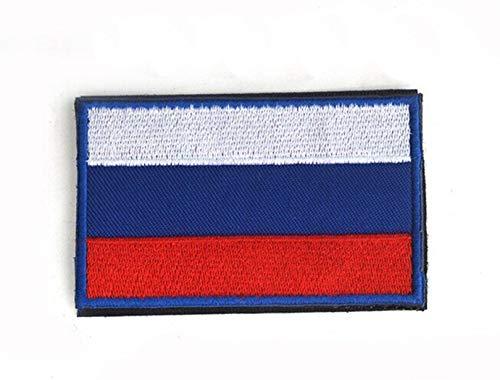 Patch Nation Russland Russisch Flagge Gestickte Airsoft Klettverschluss-Flecken