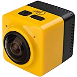 EASYBUY Cube 360 Action Video Camera WiFi 1280*1042 360 Degrees Panorama Yellow