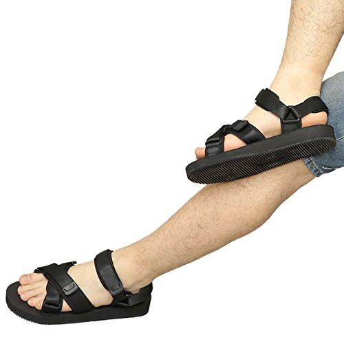 Meijunter Männer Sandalen Gehen Mode Komfort Sommer Freizeit Strandschuhe Hausschuhe Sport Schuhe Schwarz