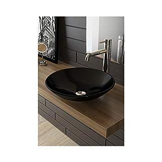 Alpenberger Black Glass and Sink Glass Wash Bowl Diameter 46cm®