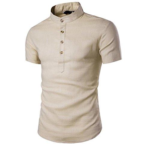 Herren Shirts Männer Shirts Männer T-Shirt Bluse,Beige,S